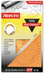 Witte Geodriehoek Aristo 14 Cm Flexibel Oranje