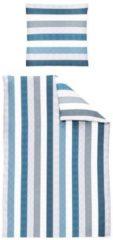 Biber Bettwäsche Davos 8660-20 Irisette blau