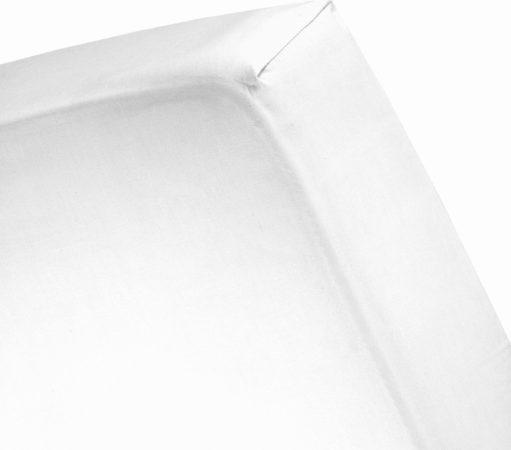 Afbeelding van Damai Hoeslaken katoen 180 x 220 (01) white Hoge hoek (25 - 35 cm) Nightkiss
