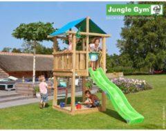 Jungle Gym Speeltoren met Glijbaan (lichtgroen) Hut