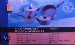 Zilveren Merkloos / Sans marque Le Chef - 4-delige Pannenset Basic