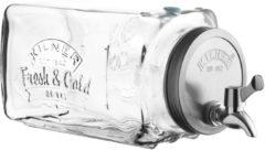 Transparante Point-Virgule KILNER sklenìný nápojový automat s kohoutkem do le