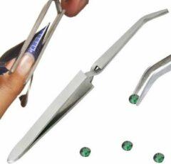 Zilveren Merkloos / Sans marque Pinch pincet, zelfsluitend