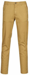 Beige Kleding Slhstraight-Newparis Flex Pants W Noos by Selected Homme