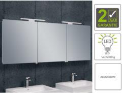 Boss & Wessing BWS LED Spiegelkast Luxe Aluminium 140x60x14 cm