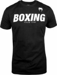 Venum Boxing VT T-Shirt - Katoen - Zwart met wit - L