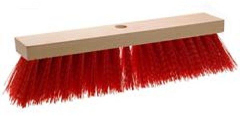 Afbeelding van Rode ARO-Household Straatbezem pvc rood 28cm Bezems