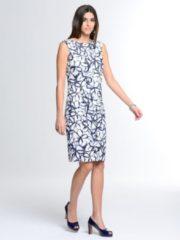 Kleid Alba Moda Weiß/Blau