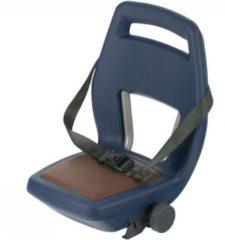 Qibbel 6+ Junior Fietsstoeltje Achter - Blauw met bruin kussentje
