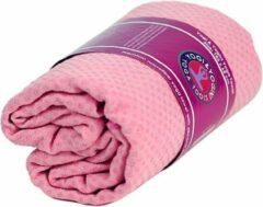 Yogi & Yogini Yoga handdoek PVC antislip roze (183x65 cm)