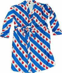 Art badjassen Badjas met Friese vlag opdruk – Unisex – Bathrobe – Maat XS