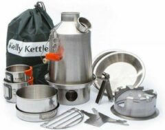 Zwarte Kelly Kettle Ultimate 'Scout' Kit - Stainless Steel NEW