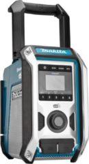Blauwe Makita DMR115 Bouwradio met Bluetooth en DAB, DAB+ en FM