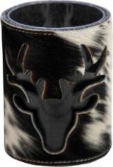 Beige Mars & More Windlicht koe hert zwart 15cm