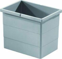 Hailo Separato afvalemmer 15 liter grijs 1102459