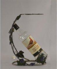 Bruine Home of Decorations Vaderdag kados Metalen wijn fleshouder met druiven