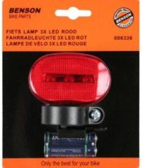 Rode K-parts Fietsverlichting set fiets voorlicht en achterlicht incl. batterijen Benson
