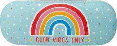Lichtblauwe Sass & Belle Brillenkoker Rainbow