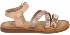 Roze Gioseppo leren sandalen met glitters roségoud