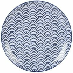 Donkerblauwe Tokyo Design Studio Nippon Blue bord 26 cm