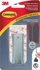 8x Command fotolijststrip voor haak met zaagtanden, draagvermogen 2,2 kg, metaal, blisterverpakking