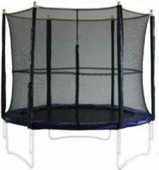 Zwarte Universeel Veiligheidsnet De Luxe voor trampolines 420-430 cm met 4 poten | BTN