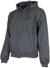 Donkergrijze Donnay sweater met capuchon - Sportvest - Heren - Maat XL - Donker grijs gemêleerd