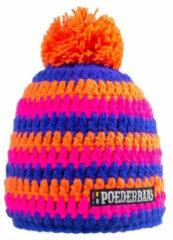 Roze Poederbaas Beanie Short - Duo Stripes