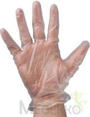 Transparante Perel wegwerphandschoenen large pak van 100 stuks