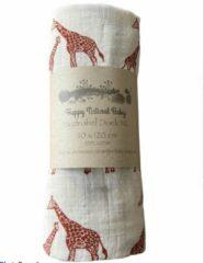 Merkloos / Sans marque Hydrofiel Doek XL Giraffe- Inbakerdoek- Hydrofiel Luier- Baby Dekentje- Baby Bad- Kado