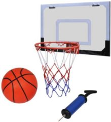 Oranje VidaXL Mini-basketbalset met bal en pomp