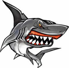 Grijze AutoStyle Sticker Shark II - 11x10,5cm