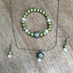 Zilveren Wellness-House | Inner Peace Ketting Armband Oorbelsetje | Zen | Uniek | Handgemaakt | Sieradenset | Cadeau