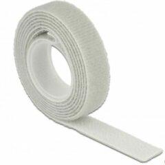 DeLOCK Klittenband rol 13mm / grijs (10 meter)