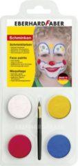 Eberhard Faber Schminkset EFA Clown - met 4 kleuren, penseel en
