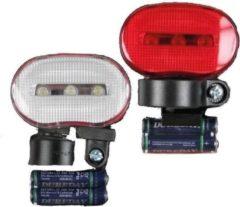 Merkloos / Sans marque Fietslampen LED set - fietsverlichtingset met voor en achterlicht
