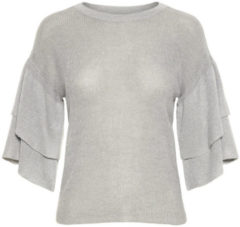 VERO MODA Ruffle Sleeved Blouse Women Grey