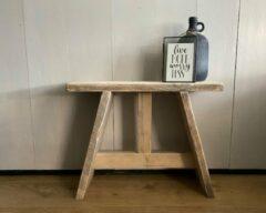 VNLR Steigerhouten krukje - bankje - gebruikt hout