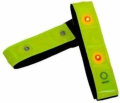 SAFETY GEAR Hardloop verlichting - Rood Lichtgevende LED Veiligheidsband - 1 Stuk - Inclusief Batterij | Knipperend of Brandend Licht | Armband | Veilig Hardlopen Band | Wandelen | Sporten