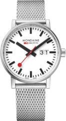 Paarse Mondaine evo2 Big MSE.40210.SM Horloge - Edelstaal - Zilverkleurig - Ø40 mm