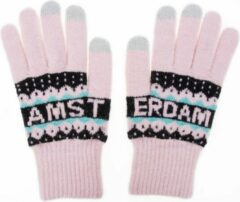 Robin Ruth Handschoenen Vrouwen Amsterdam roze smart touch
