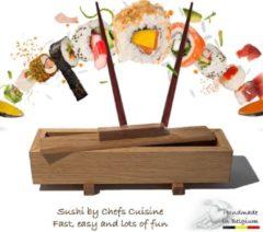 Chefs Cuisine Sushimaker -Sushimaker - sushimaker set - sushi set - sushi kit - sushi - sushi maken incl. 4 Chopsticks & Sauspotje