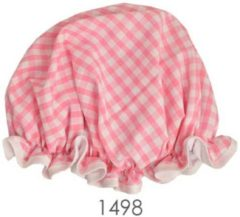 Roze Vagabond Traditionele Engelse Douchemuts - Pink Gingham