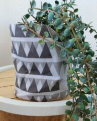 Flora-decors Plantenzak grijs wit 15 cm