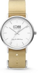 CO88 Collection Watches 8CW 10024 Horloge - Nato Band - Ø 36 mm - Beige