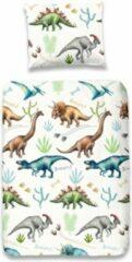 Blauwe Kinder Dekbedovertrek Leuke Kinder Katoen Junior Dekbedovertrek Dinosaurussen | 120x150 | Fijn Geweven | Zacht En Huidvriendelijk