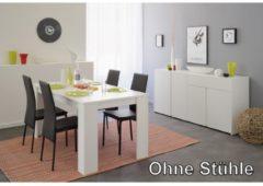 Esstisch mit Sideboard 'Karan 32', verschiedene Farben Parisot Weiß
