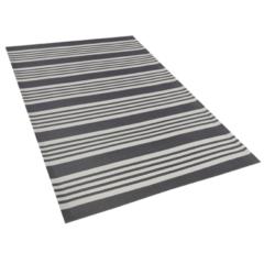 Beliani Outdoor vloerkleed zwart/lichtgrijs 120 x 180 cm DELHI