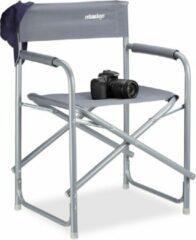 Grijze Relaxdays - regisseursstoel opvouwbaar - regiestoel vouwbaar - campingstoel