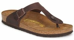 Bruine Birkenstock Gizeh Habana regular Oiled Leather - Teenslippers Dames - Maat 35